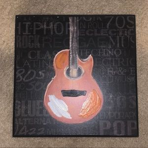 Guitar Wall Decor Plaque Sign